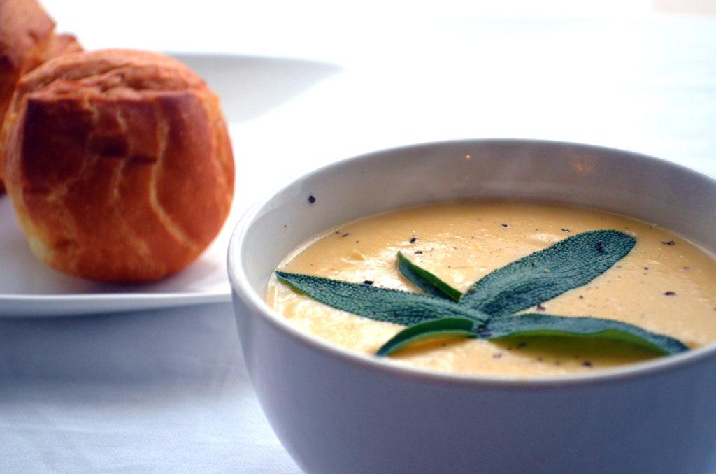 Creamy Cauliflower and Sage soup