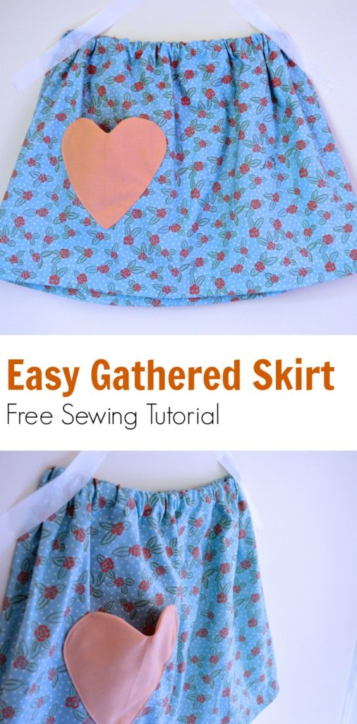 Easy Gathered Skirt For Girls Sewing Tutorial On The Cutting Floor