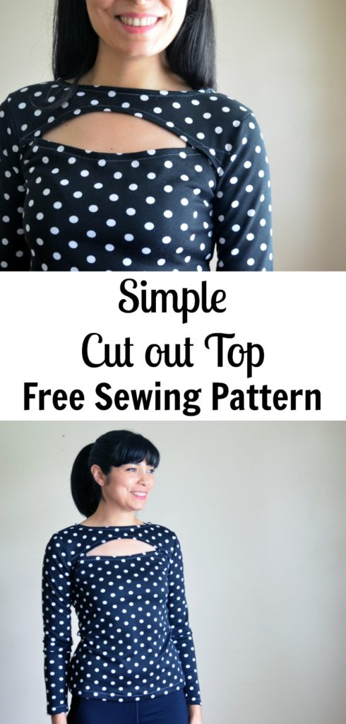 Simple Cut Out Top Free Sewing Pattern