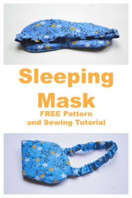 Sleeping Mask Sewing Tutorial