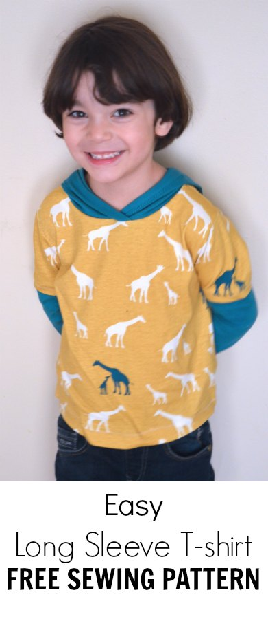 How To Sew A Long Sleeve T Shirt With Hoodie On The