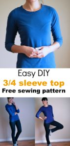 Sewing tutorial: How to make an easy knit top: Learn how to make an easy DIY knit top for women with this sewing tutorial. Pattern included!
