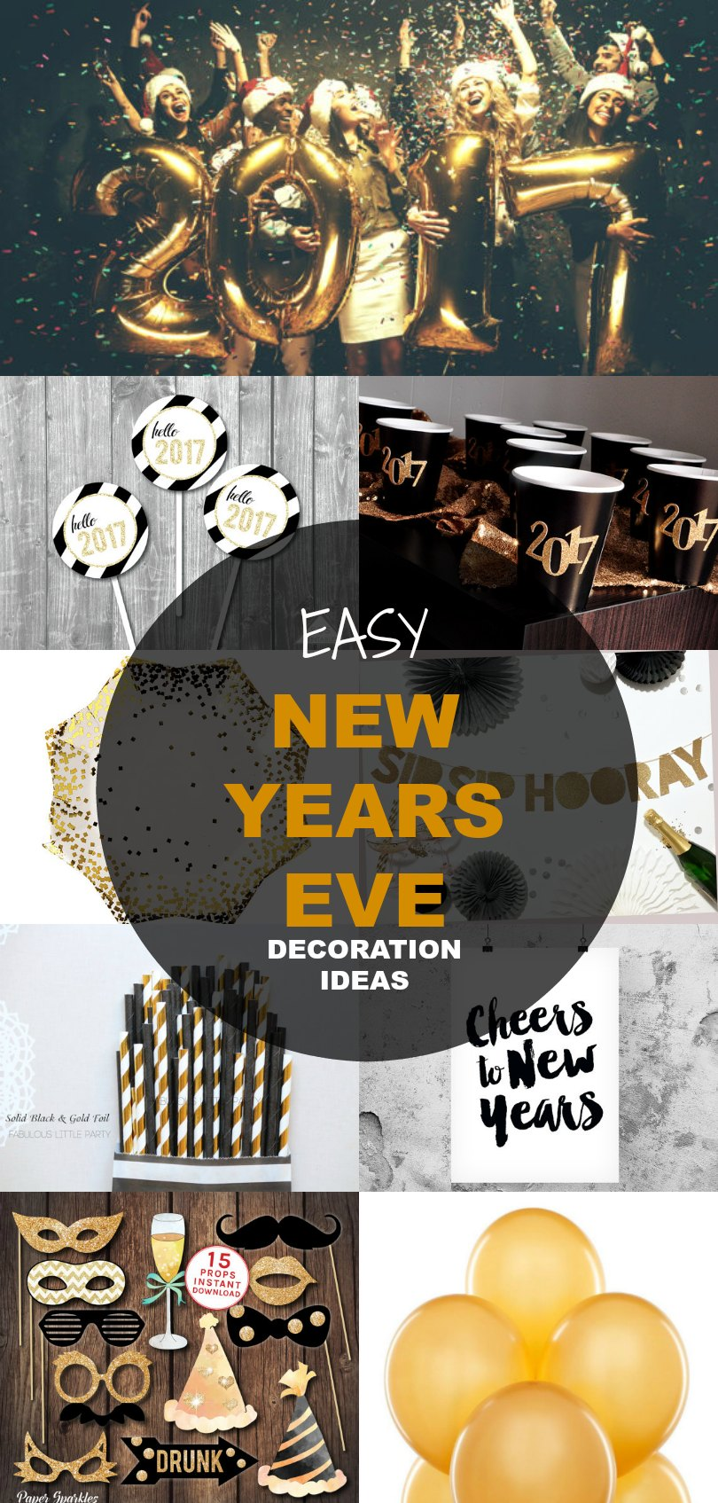 21 New Years Eve Decoration Ideas | On the Cutting Floor ...