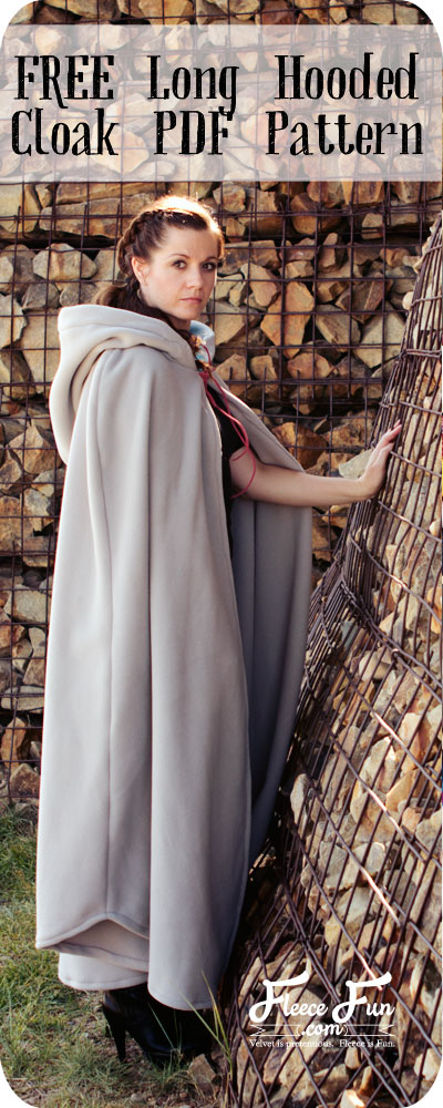 Long Hooded Cloak Free Pattern On The Cutting Floor Printable Pdf