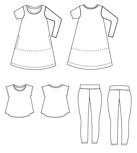 Fully Graded Swing Dress Top Tunic And Leggings Pattern On The Beauteous Swing Dress Pattern