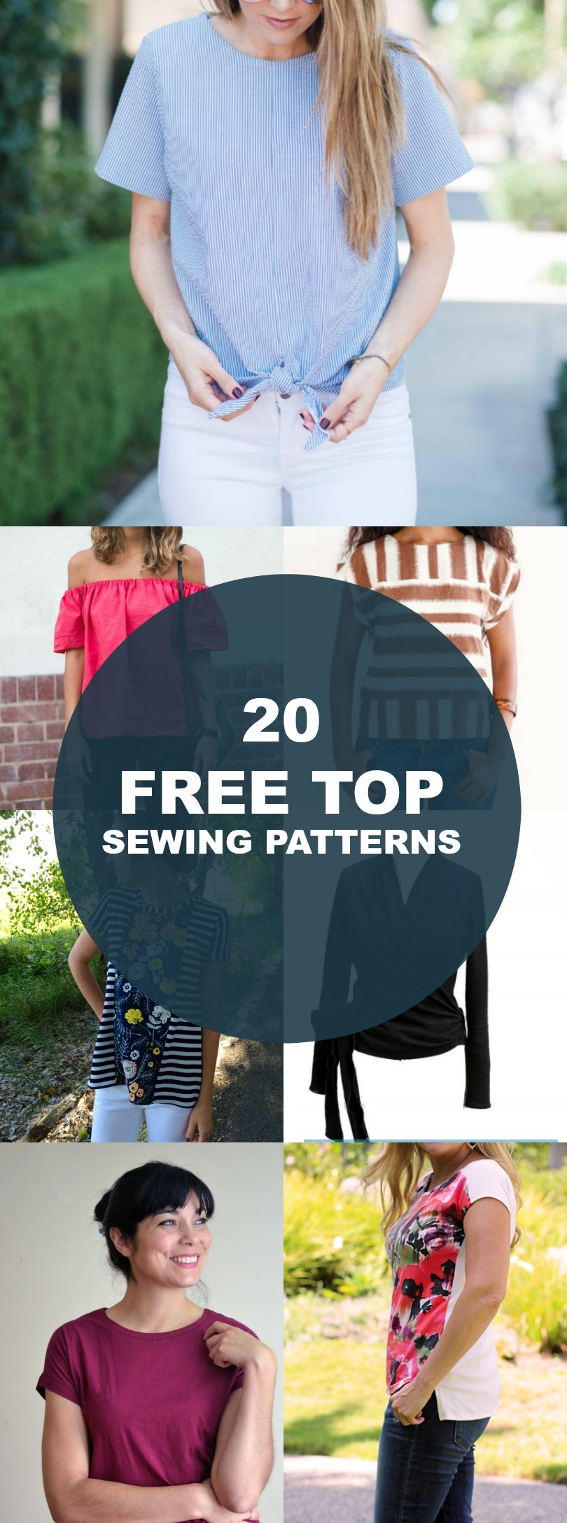 Free Sewing Patterns: 20 spring and summer tops and t-shirt tutorials