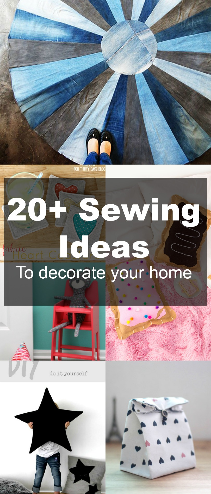 FREE SEWING PATTERNS: 20+ Home Decor Ideas To Sew