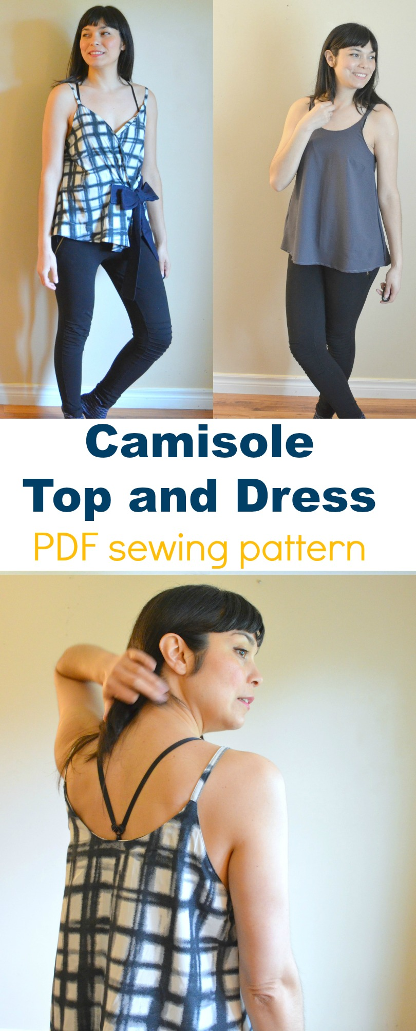 Introducing the Camisole Top and Dress PDF sewing pattern