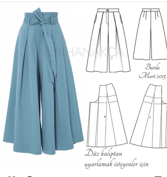 FREE PATTERN ALERT: 15+ Pants and Skirts Sewing Tutorials - On the ...