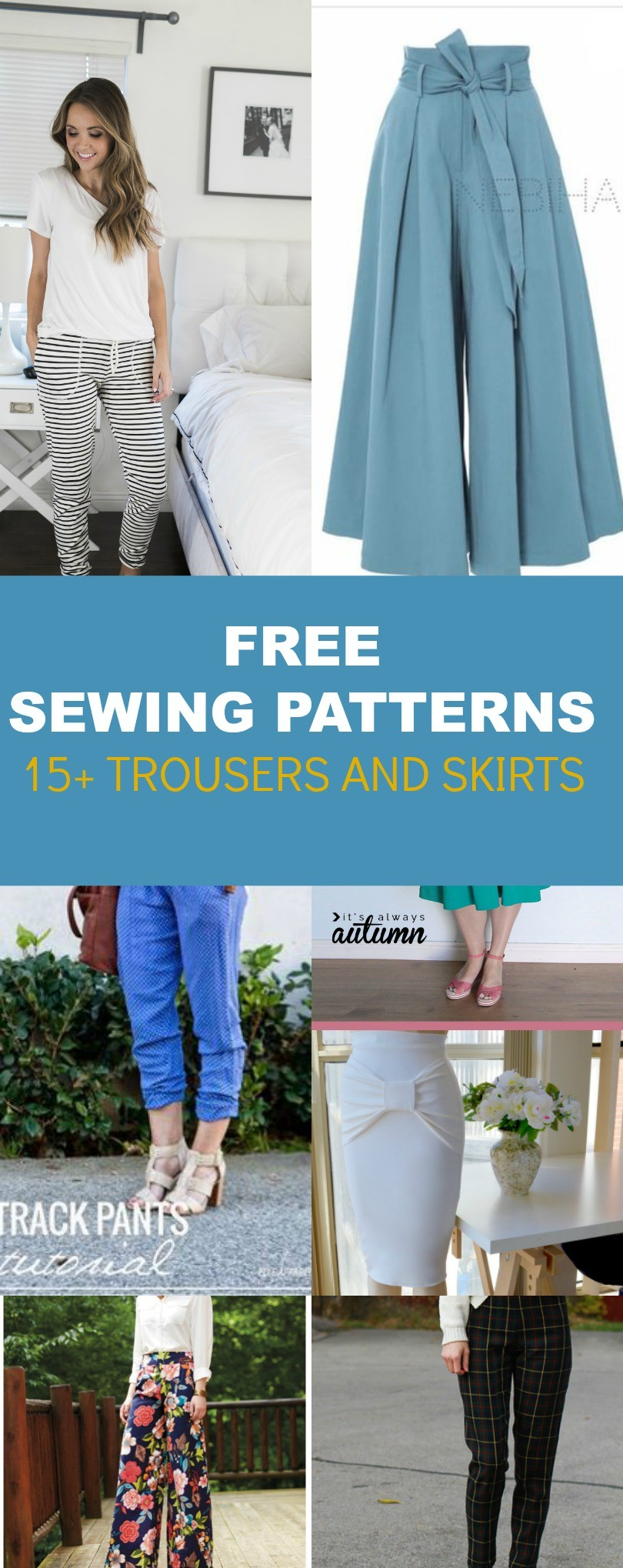 Free pattern alert 15 pants and skirts sewing tutorials on the free pattern alert 15 pants and skirts sewing tutorials jeuxipadfo Images