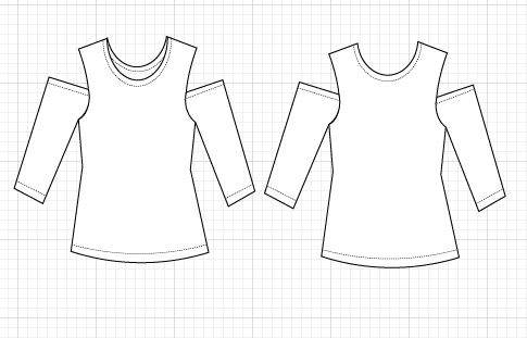 TECHNICAL DRAWING - On the Cutting Floor: Printable pdf sewing ...