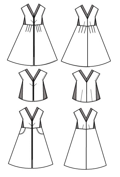 Isabella Technical Drawing On The Cutting Floor Printable Pdf Sewing Patterns And Tutorials For Women