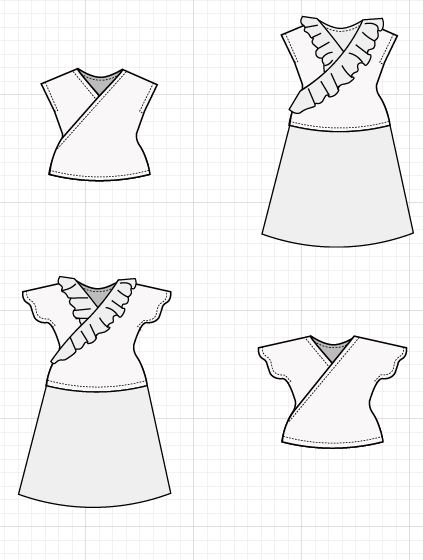 faux wrap - On the Cutting Floor: Printable pdf sewing patterns and ...