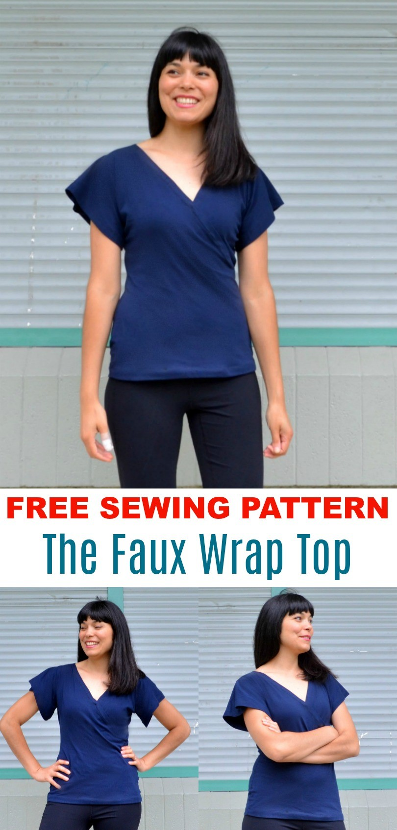 Free sewing pattern the faux wrap top pattern on the cutting free sewing pattern the faux wrap top pattern jeuxipadfo Choice Image