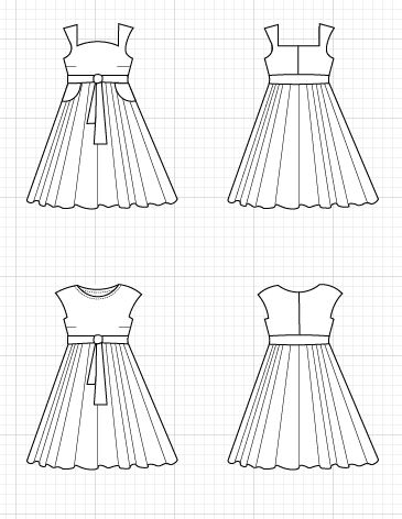 TRINIDAD DRESS TECHNICAL DRAWING - On the Cutting Floor: Printable ...