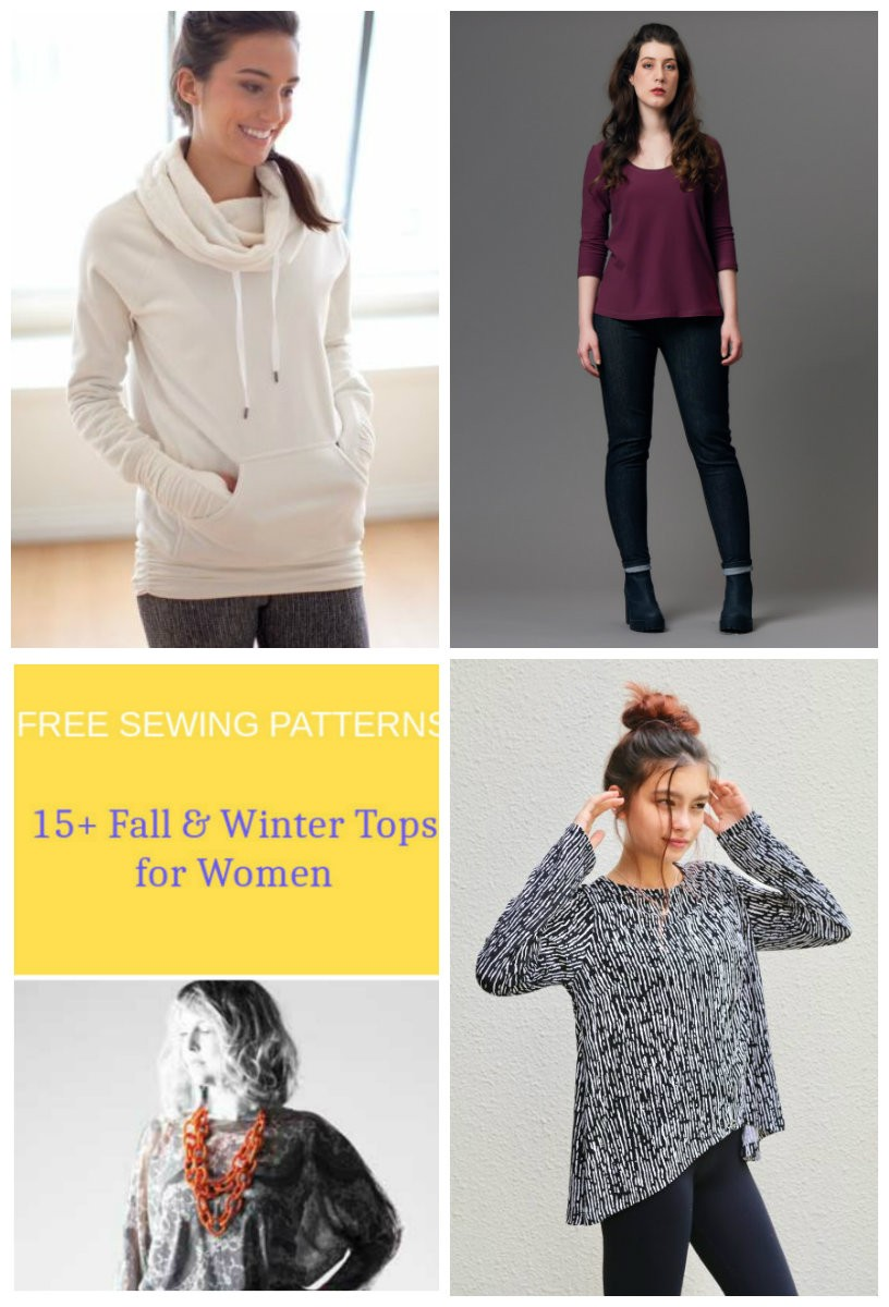 Free sewing patterns 15 fall and winter tops patterns for women free sewing patterns 15 fall and winter tops patterns for women on the cutting floor printable pdf sewing patterns and tutorials for women jeuxipadfo Images