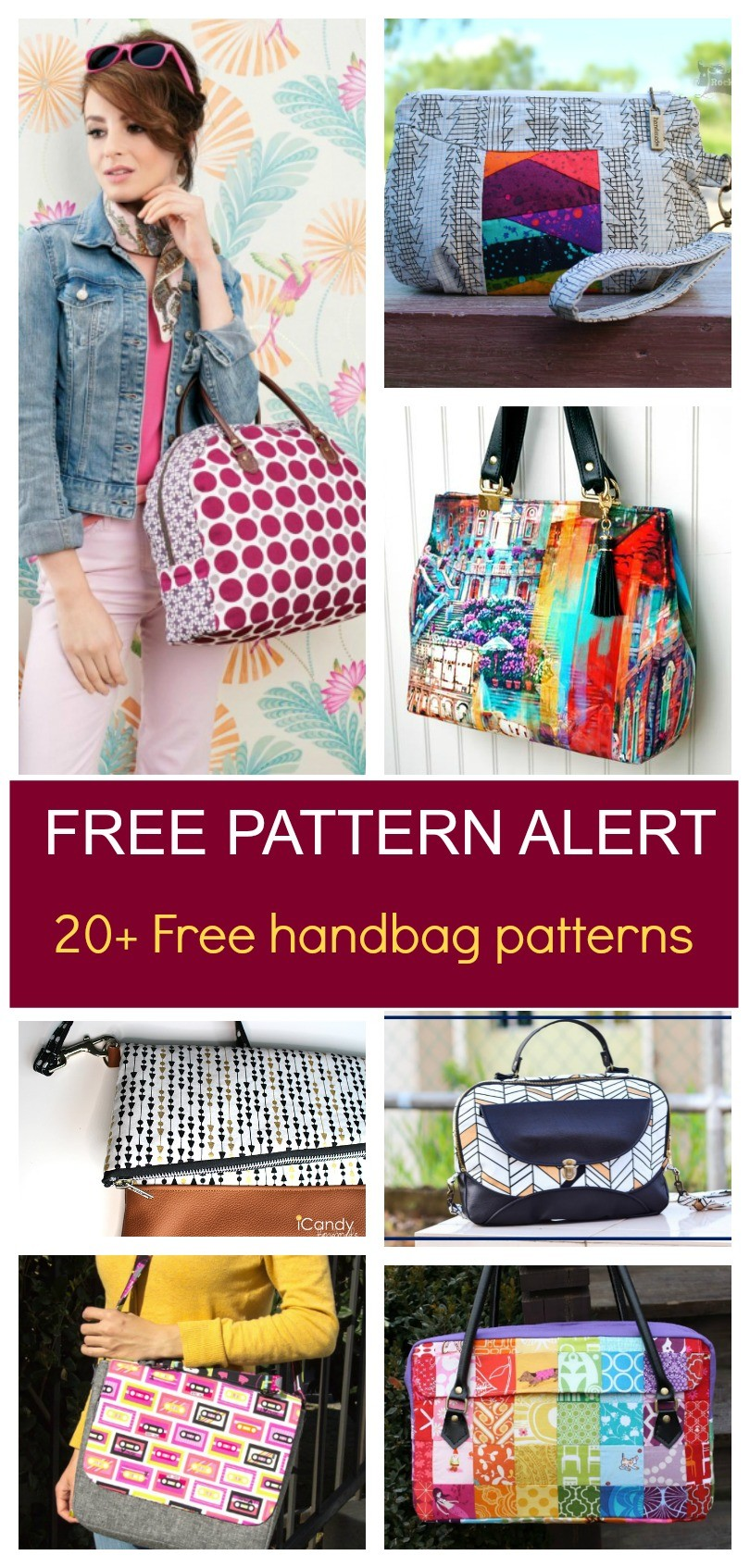 graphic about Handbag Patterns Free Printable known as Totally free Routine Inform: 20+ Handbag sewing habits Upon the