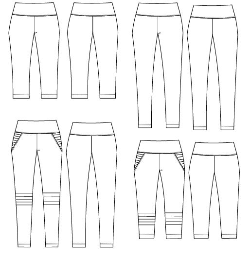 NEW PATTERN FOR SALE: The Moto Leggings Pattern and Step