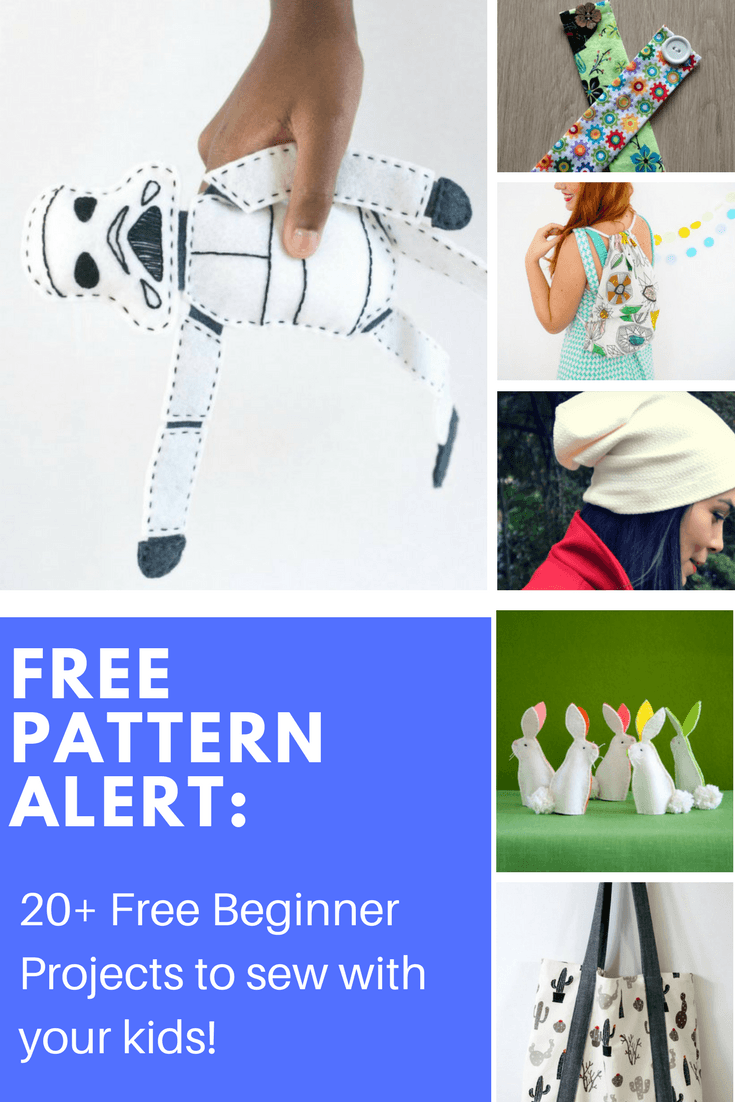FREE PATTERN ALERT: 20+ Free Beginner Projects to sew with your kids!