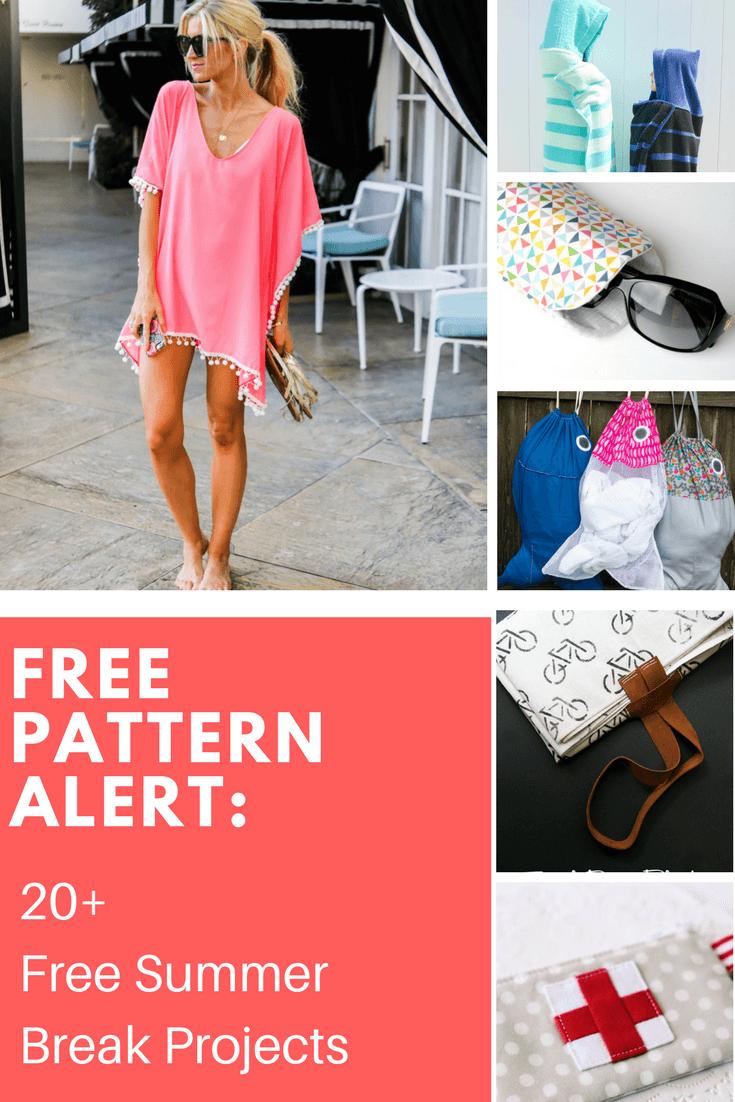 FREE PATTERN ALERT: 20+ Free Summer Break Projects