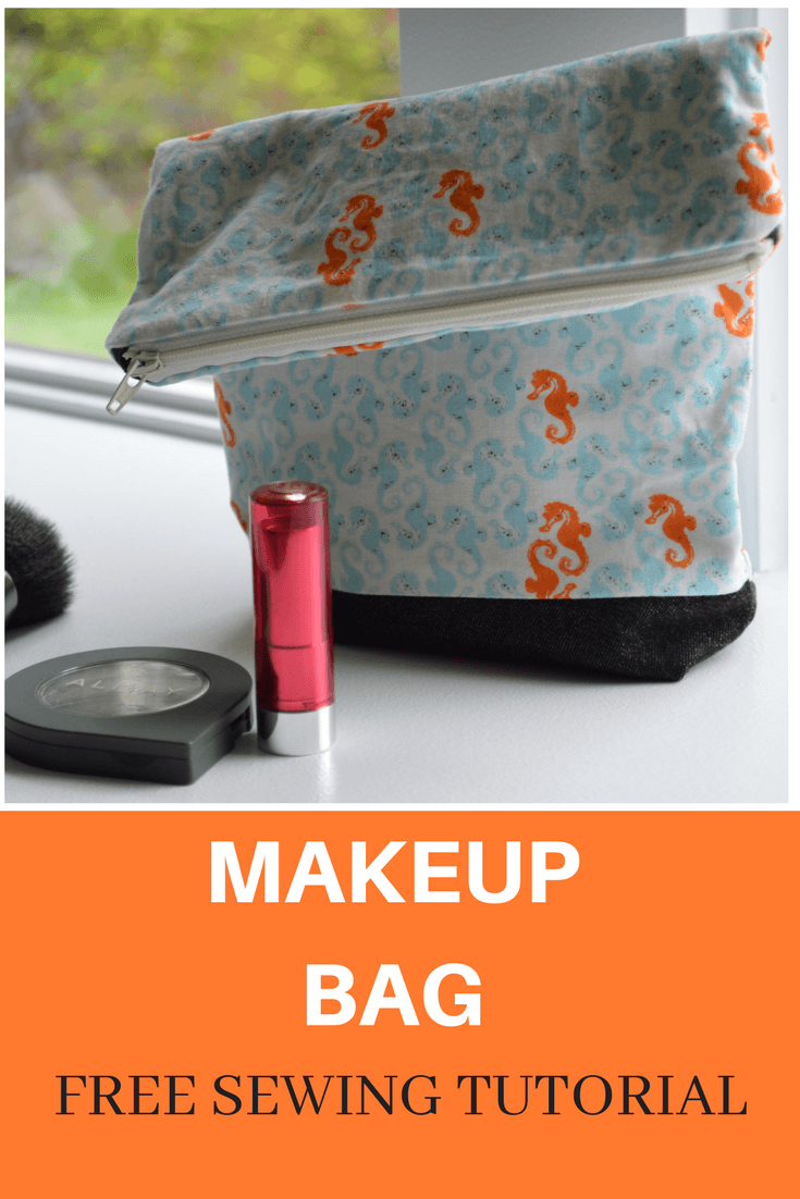 EASY SEWING TUTORIAL: Makeup Bag