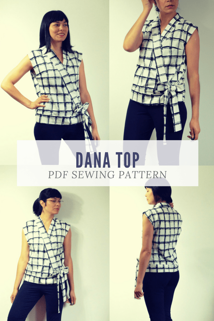 NEW PATTERN FOR SALE: The Dana TOP PDF sewing pattern | On the ...