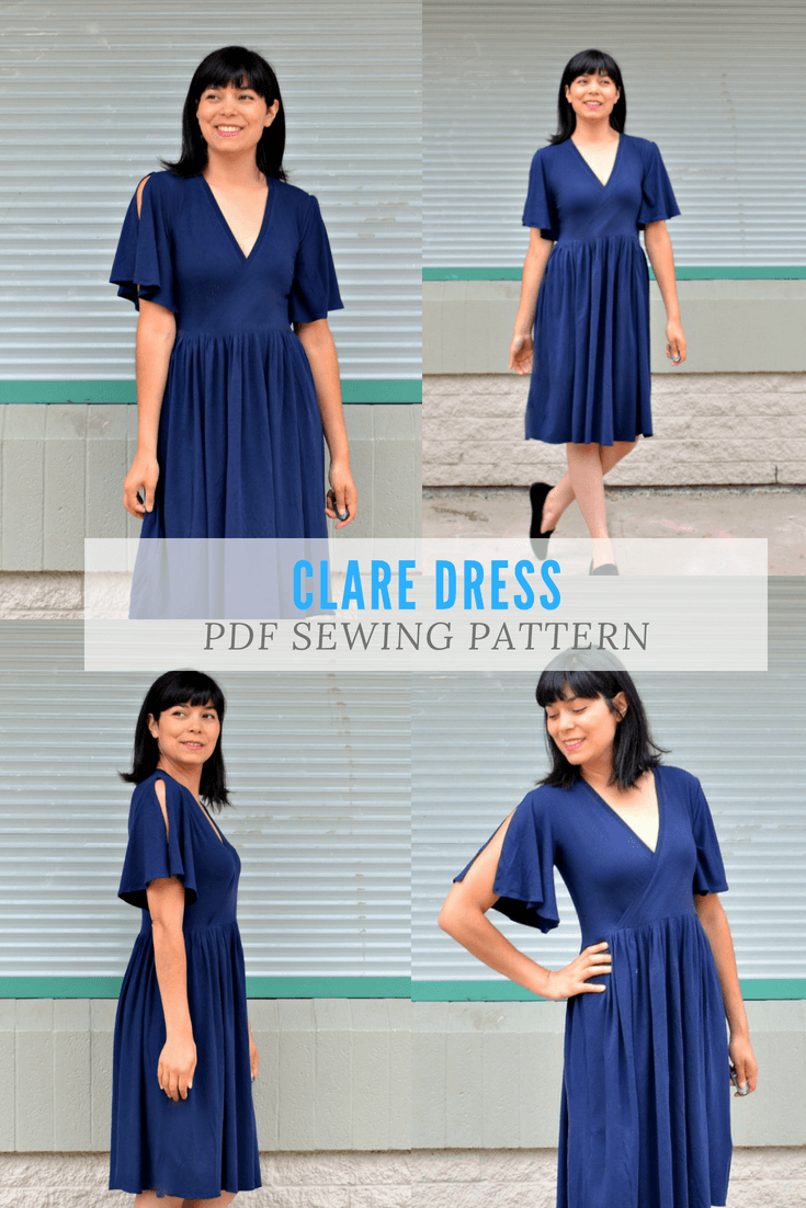 NEW PATTERN FOR SALE: The Clare Dress PDF sewing pattern and ...