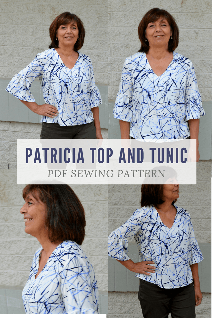 Smart image in free printable plus size sewing patterns