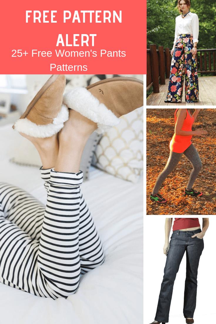 FREE PATTERN ALERT: 25+ Free Women's Pants Patterns