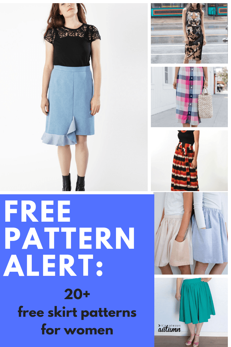 FREE PATTERN ALERT: 20+ Free Women's Skirt Patterns