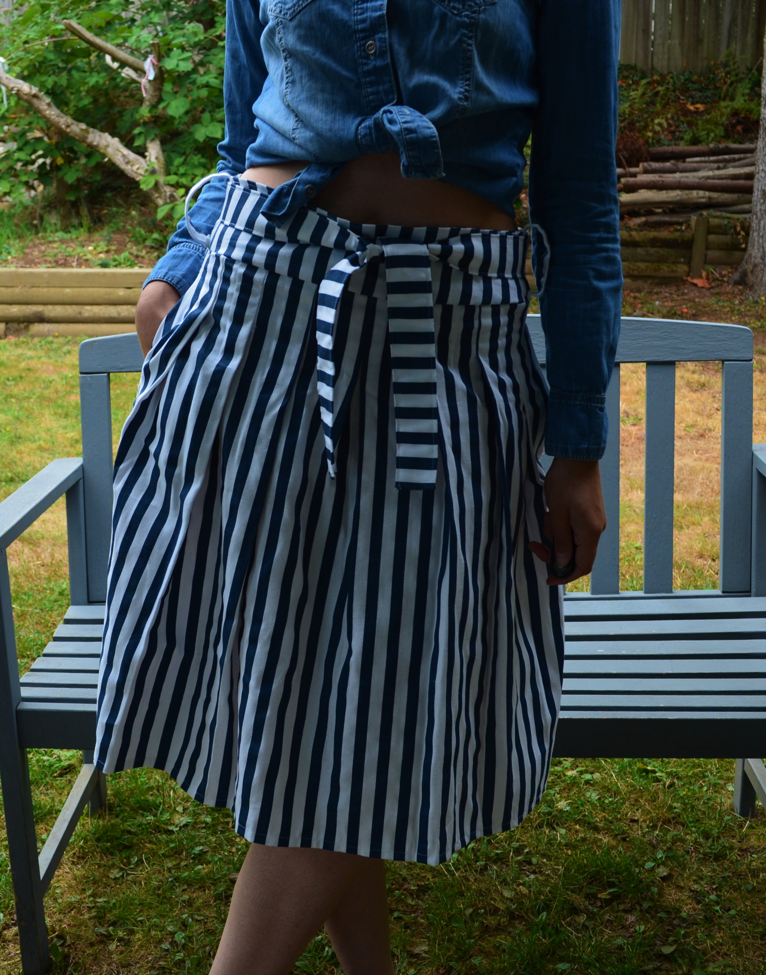FREE SEWING PATTERN: The Pleated skirt pattern