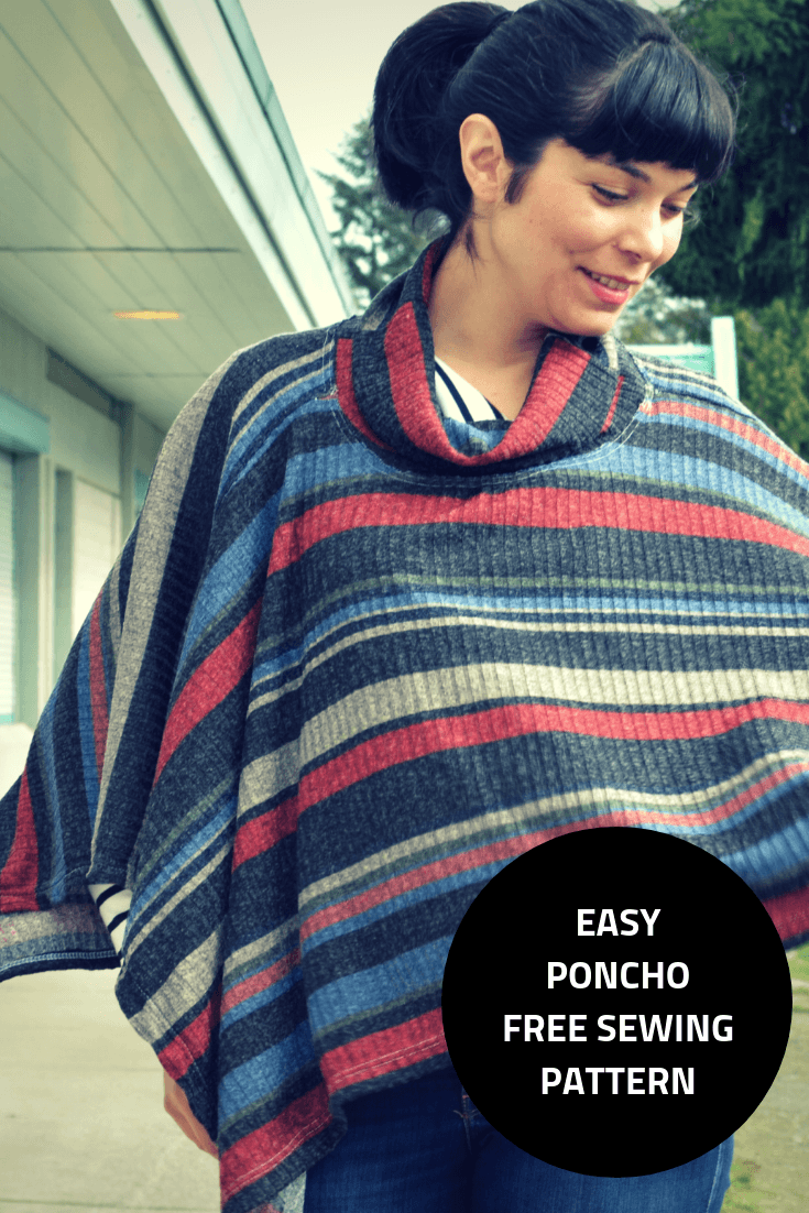 FREE SEWING PATTERN: The easy poncho