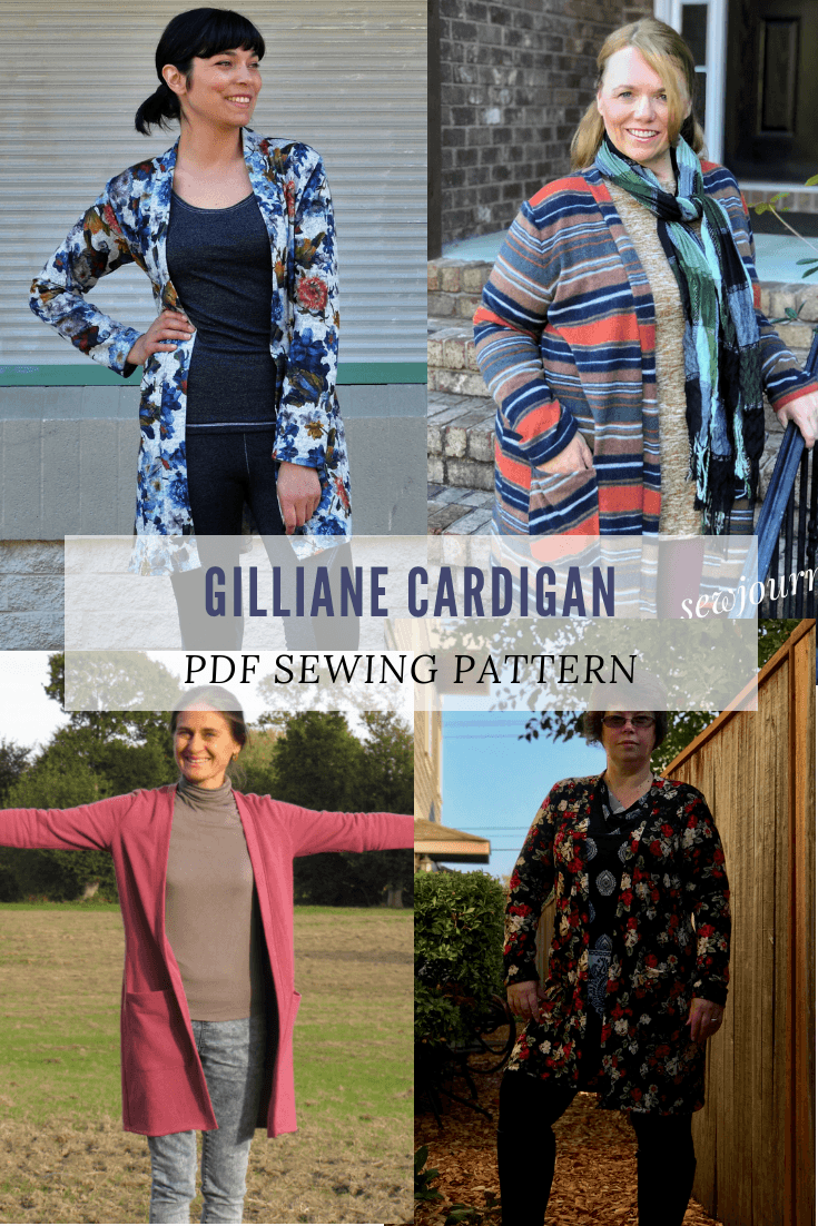 NEW PATTERN FOR SALE: The Gilliane Cardigan pattern and sewing tutorial