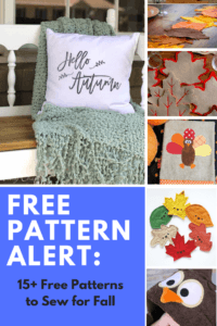 free sewing pattern to sew for fall