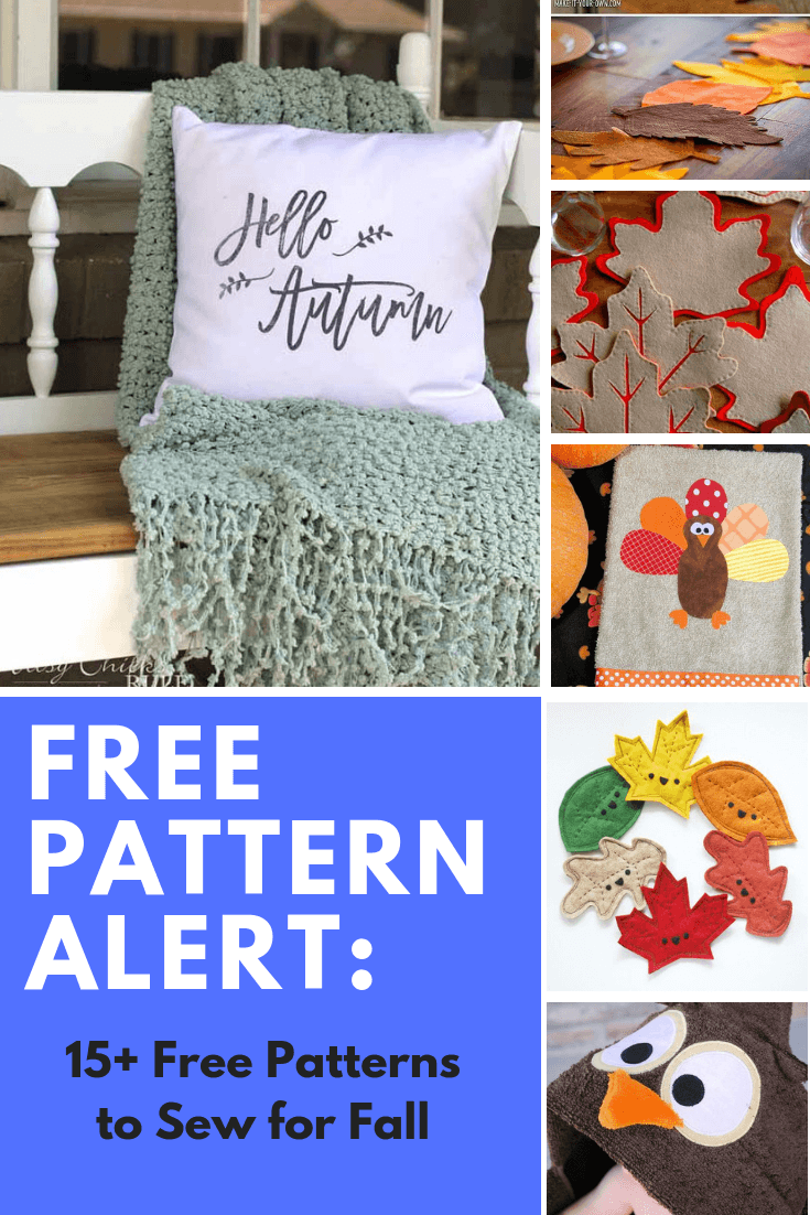 FREE PATTERN ALERT: 15+ Free Patterns to Sew for Fall
