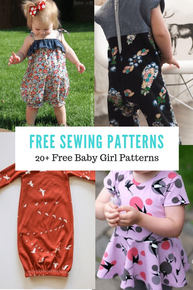 FREE PATTERN ALERT:5+ Free Baby Girl Patterns   On the Cutting