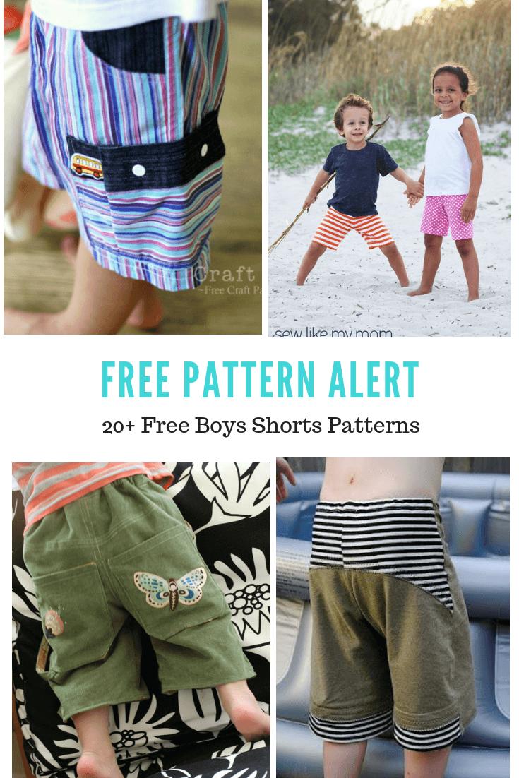 FREE PATTERN ALERT:20+ Free Boys Shorts Patterns