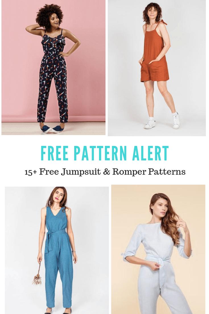 Free Pattern Alert 15 Free Jumpsuit Amp Romper Patterns