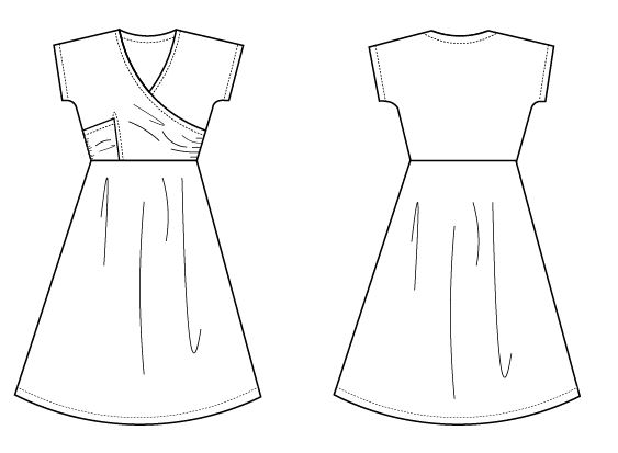 Technical Drawing Isidora Pdf Sewing Pattern For Women
