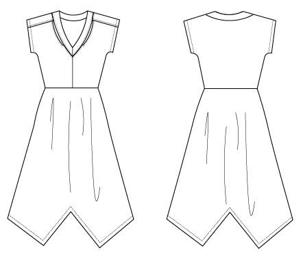 Almeida Pdf Sewing Pattern Technical Drawing