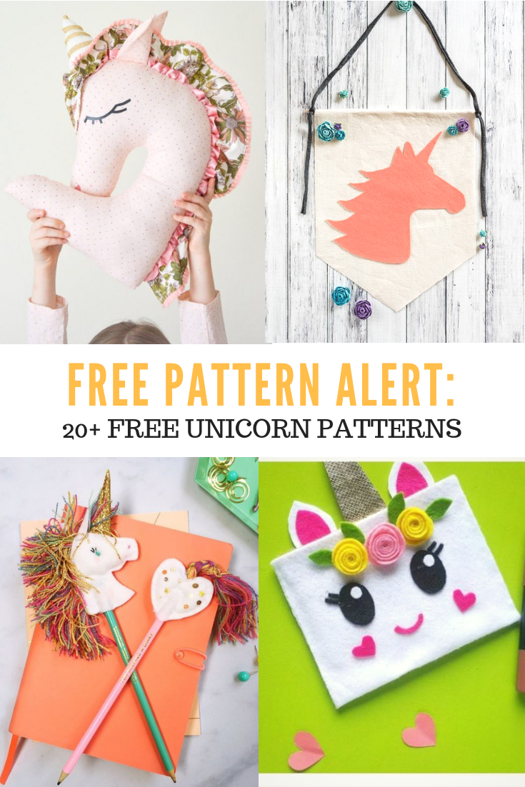 FREE PATTERN ALERT: 20+ Free Unicorn Patterns - On the Cutting Floor