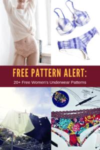 FREE PATTERN ALERT: 20+ Free Women's Underwear Patterns
