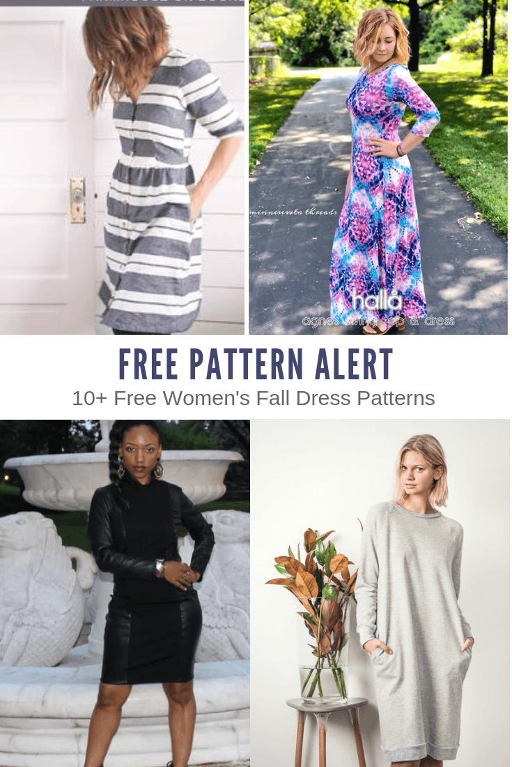 FREE PATTERN ALERT: 10+ Free Women's Fall Dress Patterns