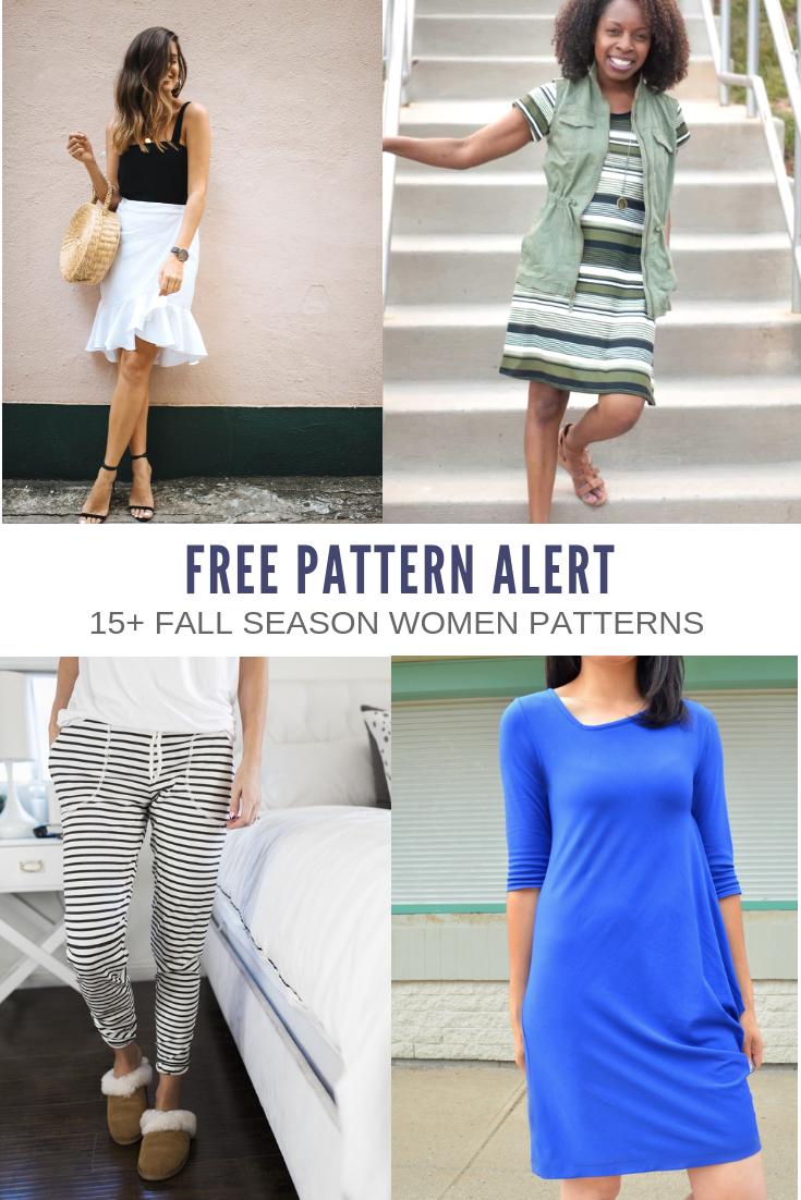FREE PATTERN ALERT: 15+ Fall sewing patterns for women