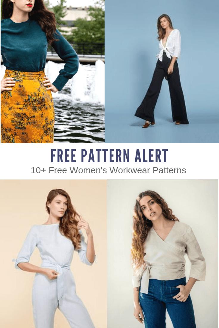 FREE EASY PATTERNS: 10+ Free Women's Workwear Patterns