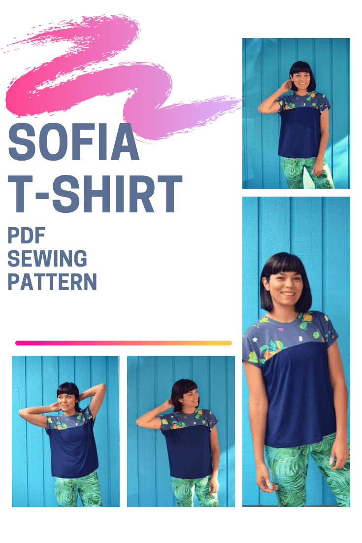 NEW PATTERN FOR SALE: Sofia Knit Top PDF sewing pattern