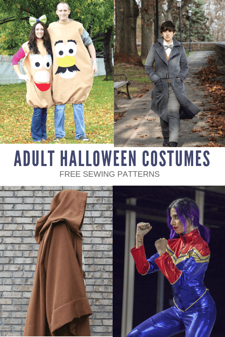 15+ ADULT HALLOWEEN COSTUMES: Free sewing patterns