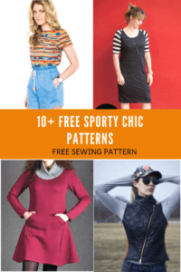 FREE PATTERN ALERT: 10+ Free Sporty Chic Patterns