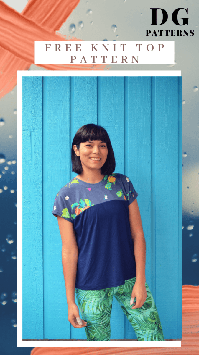 Easy Sofia Knit top: Download your free sewing pattern