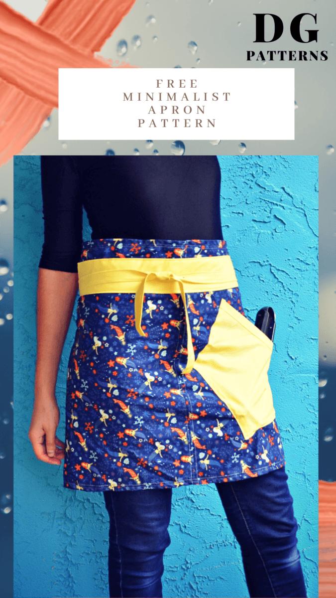 FREE SEWING PATTERN: The minimalist apron